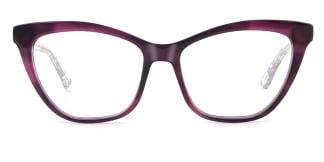 HL0048 Hazel Cateye purple glasses