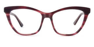 HL0048 Hazel Cateye red glasses