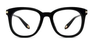 HT007 Heather Oval black glasses