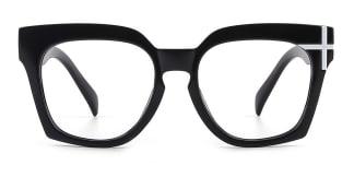 HT058 Danielle Geometric black glasses