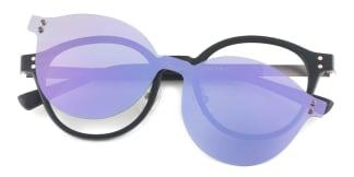 HW923 Rotem Round black glasses