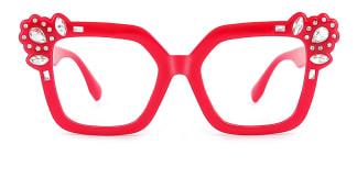 JR66350 Dania Cateye red glasses