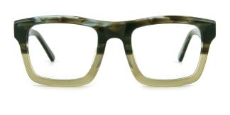 K9102 Darline Rectangle green glasses