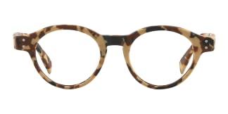 K9138 Quaneisha Round tortoiseshell glasses
