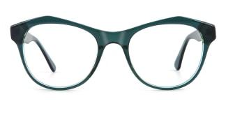 K9222 Darby Geometric green glasses