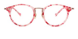 L-949 Maud Round pink glasses