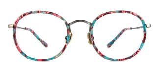 L-951 Alexis Round green glasses