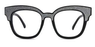 L1802 Blondelle Rectangle black glasses