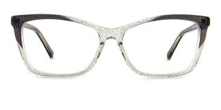 L7316 emerald Rectangle grey glasses
