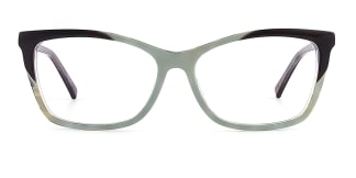 L7316 emerald Rectangle other glasses