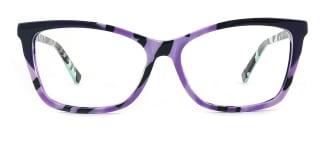 L7316 emerald Rectangle purple glasses