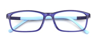 L8606 Irven Rectangle blue glasses