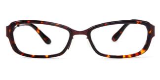 LE420 Brett Rectangle tortoiseshell glasses