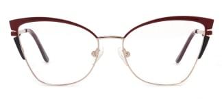 M1039 Alexa Cateye red glasses
