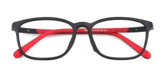 M8060 Irina Rectangle black glasses