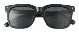 P017 Ferris Rectangle black glasses