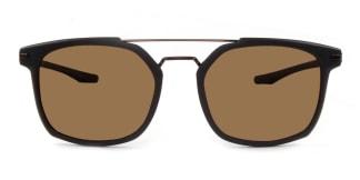 P18 Gordon Aviator brown glasses