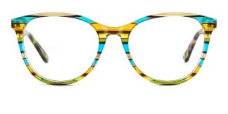 PY3019 Alvina Oval green glasses