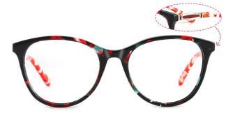 PY3019 Alvina Oval red glasses