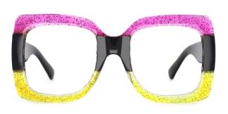 Q120 Whitney Rectangle purple glasses