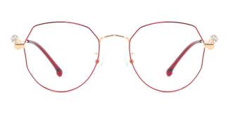 S11265 Aliya Geometric red glasses