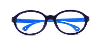 S600 Bunny Oval blue glasses