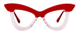 S8053 Kerrin Cateye red glasses