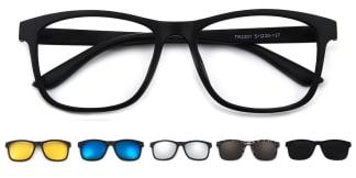 T2201 Ginata Rectangle black glasses