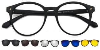 T2231 Fleur Oval black glasses