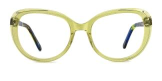 WD15 Annemarie Cateye yellow glasses
