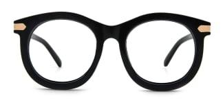 X1200 Gertrude Oval black glasses