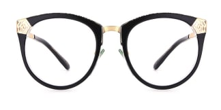 X6805 Karen Cateye black glasses