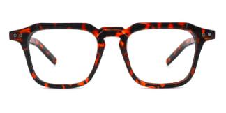 Z3327 Carol Rectangle tortoiseshell glasses