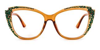 Z3339 Chloris Cateye brown glasses