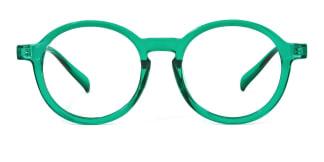 Z3389 Ady Round green glasses
