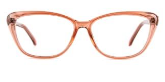 ZY701 Amie Cateye brown glasses